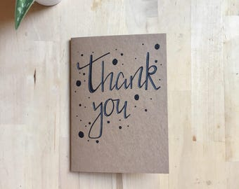 Thank You Hand-Lettered Greeting Card
