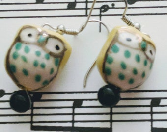 Give a hoot owl earrings