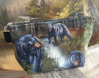 Black Bear Zipper Pouch Bag - No Bears were harmed in the making of this bag