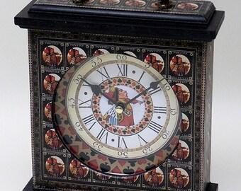Alice in Wonderland Clock. Queen of Hearts Clock. Alice Clock. Unique Clock. Alice in Wonderland Decor. Wonderland Clock. Carriage Clock