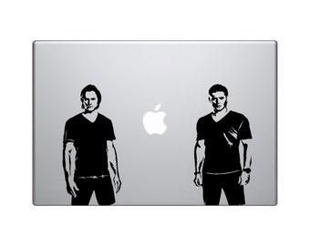 "Supernatural - Sam and Dean Winchester vinyl decal 6"" - Jensen Ackles - Jared Padalecki - Castiel - Bobby - demon hunters - crowley"