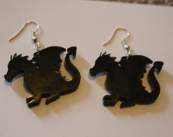 Laser-cut dragon earrings - 5 colours available!