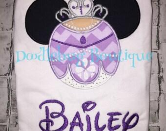 Sofia Mickey Mouse shirt with name