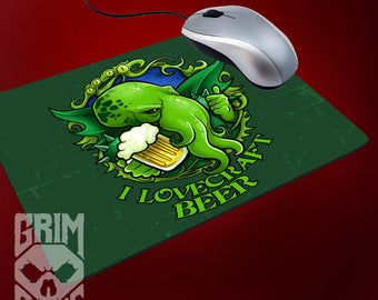 Mouse pad I Lovecraft Beer