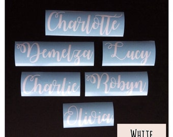 Personalised Name Vinyl Decal, Name Sticker