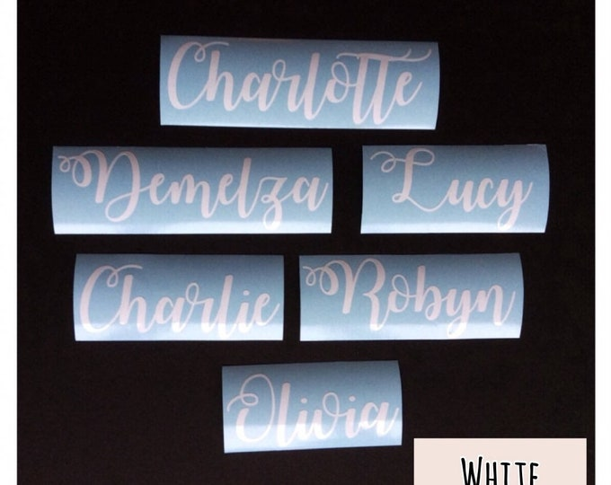 Featured listing image: Personalised Name Vinyl Decal, Name Sticker