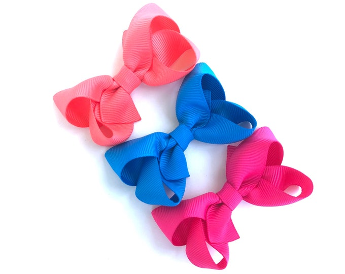 YOU PICK 3 hair bows - 3 inch hair bows, hair bows, bows, hair clips, hair bows for girls, baby bows, pigtail bows, girls hair bows, toddler