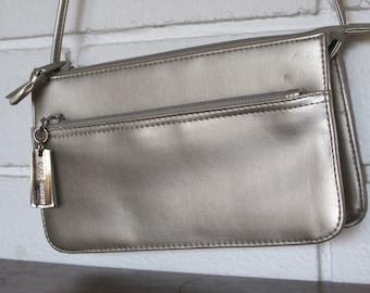 Vintage Compact Sized Champagne Handbag
