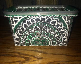 Hand Decorated Container