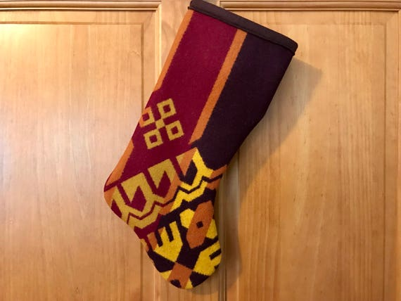 Christmas Stocking XL Maroon & Gold