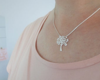 sterling silver tree necklace, tree necklace, tree pendant necklace, silver tree necklace, family tree necklace, mother's day necklace,