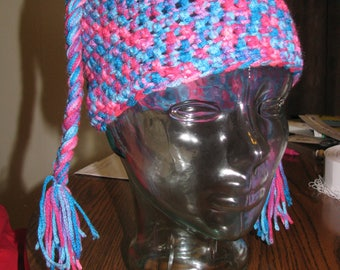 Colorful Pigtail Hat