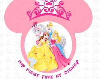 Personalized Disney Princess T Shirt Iron On Transfer Personalized FREE