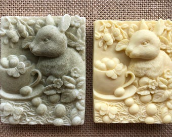 Bunny and Tea Cup Guest Soaps