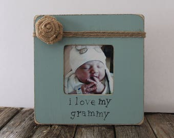 Grammy Picture Frame, I Love My Grammy Photo Frame, Grandma Frame, Turquoise Picture Frame, Mother's Day Gift