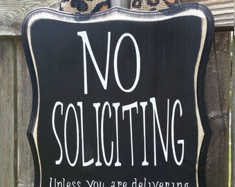 No Soliciting Sign Laundry and Wine
