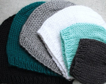 Knitting Pattern: Basic Knit Beanie Hat in All Sizes