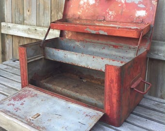 Vintage Red Tool Box