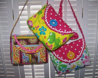 Child's Purse-easy sewing pdf pattern and Tutorial with Immediate Download e-file