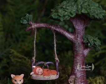 Fox in the Woods Digital Backdrop
