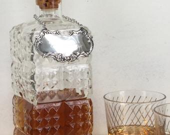 Vintage Glass Decanter / Vintage Pressed Glass Decanter