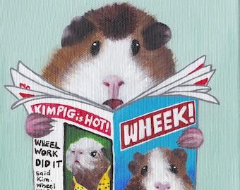 Guinea Pig greeting card - Design No 63