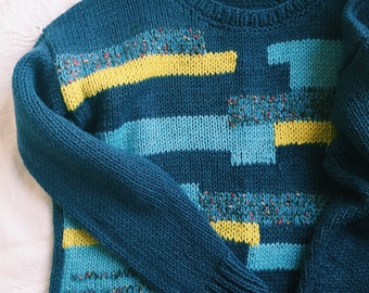 Sweater for men with geometric pattern / Мужской свитер с геометрическим рисунком