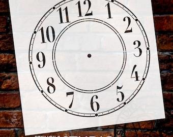 DIY Clock - Schoolhouse Clock Stencil - Select Size - STCL179 - by StudioR12