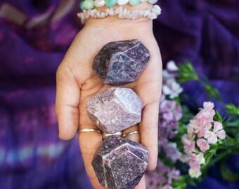 Lepidolite Channeling Stones