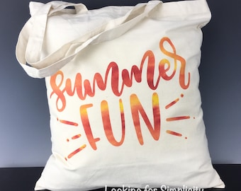 Summer Fun Tote Bag - Perfect for lake, beach or just to celebrate summer!