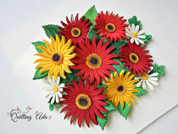 Quilling paper flowers wall art wall hanging mightylinksfo