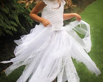 Crochet Dress Pattern: 'Mary's Dress', Wedding, Flower Girl Dress, First Communion Dress, Crochet Tutu