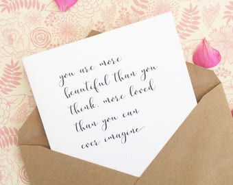 I love you card i miss you card anniversary card wedding day