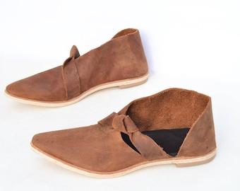 Womens shoes, leather shoes, boho shoes, flats, loafers, handmade shoes, asymmetrical shoes, booties ~ Rilee
