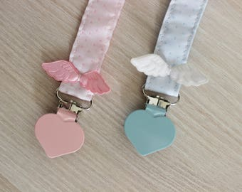 Pacifier clip, Baby wings, Pacifier holder, Soothie pacifier clip, dummy clip, Wings for baby, dummy clip, paci clip, baby pacifier clip