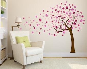 Cherry Blossom Tree Vinyl Wall Decal