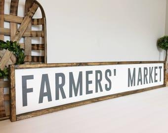 Farmers Market Sign, Farmers Market, Farmhouse Decor, Kitchen Decor, Fixer Upper, Market Sign,  Farmhouse Kitchen