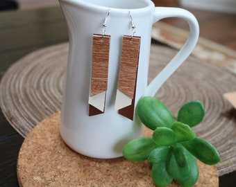 The Delight Earrings - Wood Grain