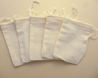 Set of 5 Pocket made of cotton 7 x 9, 5cm - S-0396
