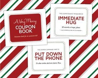 34 Unique Christmas Coupons for Kids, Printable PDF