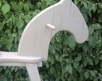 482) antique rocking horse