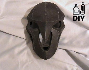 DIY Overwatch Reaper's mask template for EVA foam