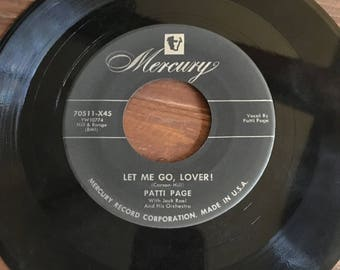 Patti Page Hocus-Pocus/Let Me Go, Lover 45 RPM Vinyl Record **free shipping**