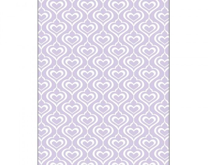 Sizzix Textured Impressions Embossing Folder - Hearts by David Tutera 661886
