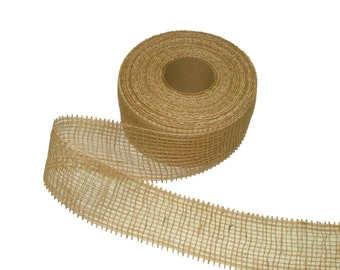 "3"" / 7.6cm Loose Scrim Ribbon Hessian Fabric For Craft Plant & Shrub Garden Farmers Market"