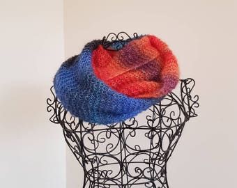 Gorgeous soft open work infinity scarf/cowl