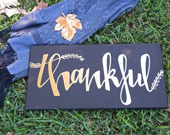 Thankful Sign, Thanksgiving Sign, Thankful Wall Hanging, Thanksgiving Decor, Thanksgiving Wall Art, Thanksgiving Wall Decor, Thankful Canvas