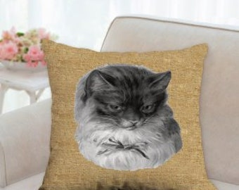 Cat Portrait Pillow