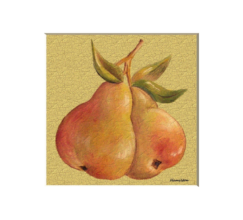 Pears art print still life painting fruit wall art fruit