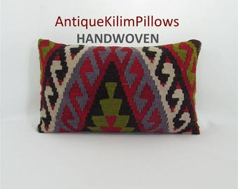 Kilim Pillow Home Decor Housewarming Gift For Mom Decorative Pillow Throw Pillow Rug Pillow Cover 12x20 Lumbar Pillow Cushion Pillow 1361